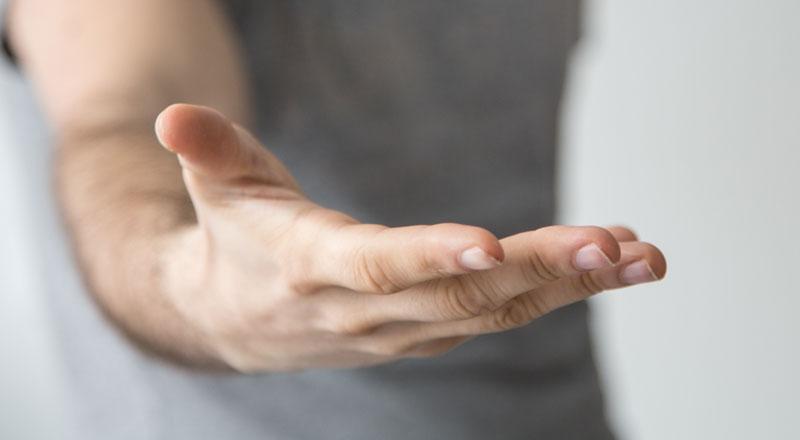 Eine Ausgestreckten Hand